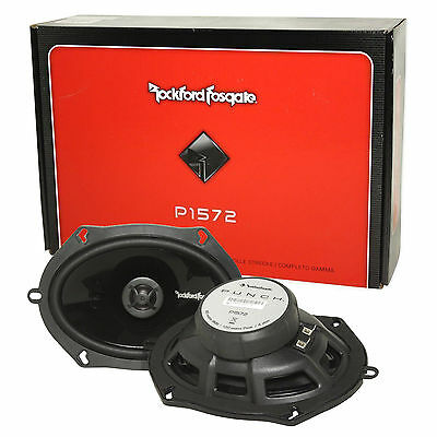 """Rockford Fosgate P1572 5x7"""" Punch Series 2-Way Coaxial Car Audio Speakers"""