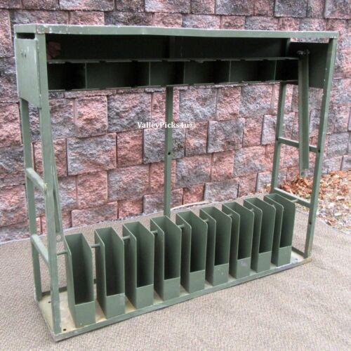 Vintage Industrial Metal Military Rifle Gun Locking Rack Show Stand