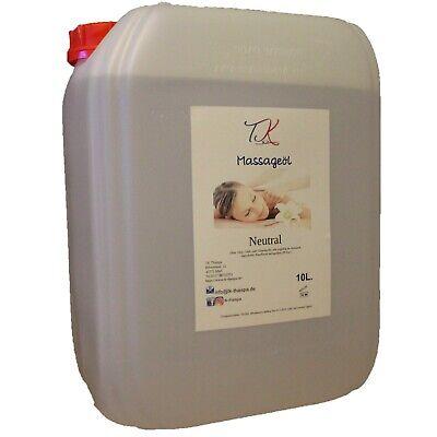 10L Massageöl ohne Duft, Basis Öl für Massagen, Wellness und Physiotherapie