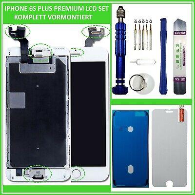 """LCD Display für iPhone 6S PLUS RETINA 5.5"""" 3D HD VORMONTIERT Glas Komplett WEISS"""