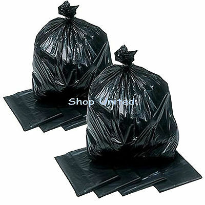 200HEAVY DUTY UK MADE BIN BAG LINERS RUBBISH REFUSE SACKS BLACK STRONG BAGS