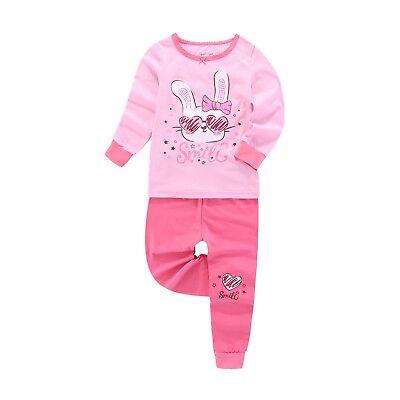 Baby Girls Pajama Bunny Printing + Glow in the Dark Cotton 3Y - - Glow In The Dark Bunny