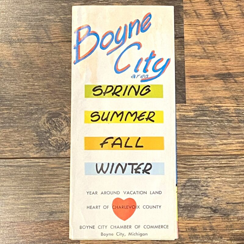 Boyne City MI Vtg 1960s Brochure Charlevoix County Great Ads Smelt Morels Fish