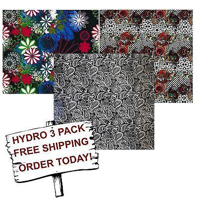 Hydrographic Film Water Transfer Printing Film Hydro Dip Flower 3 Pack