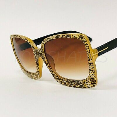 Green Designer Sunglasses - Fashion Large Square New Designer Black Brown Green Pink Lenses Big Sunglasses