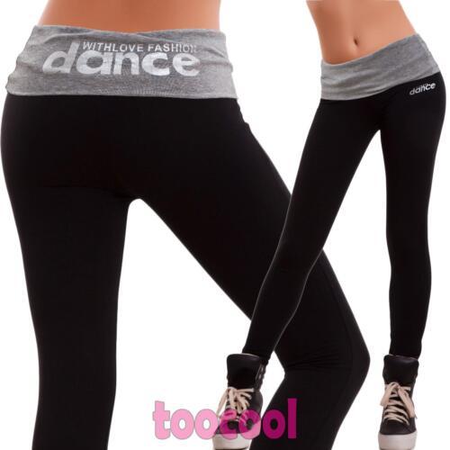 Pantaloni donna tuta leggings danza sport fitness corsa palestra nuovi B-7355