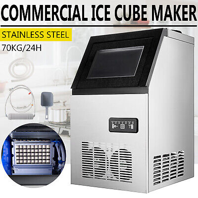 150LB Built-In Commercial Ice Maker Undercounter Freestand 5*9 Ice Cube Machine