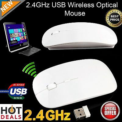 Mini Wireless Mouse Optical 2.4GHz Scroll For PC Laptop With USB Dongle UK Stock