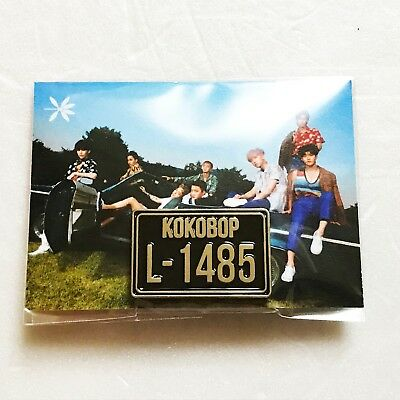 SM Town EXO 4th Album [The War] Album Official D.I.Y KOKOBOP Number Plate Pin