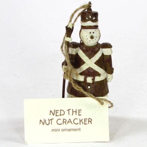 "Flurryville Collection NED THE NUTCRACKER 4"" Snowman Ornament NWT Rare HTF"