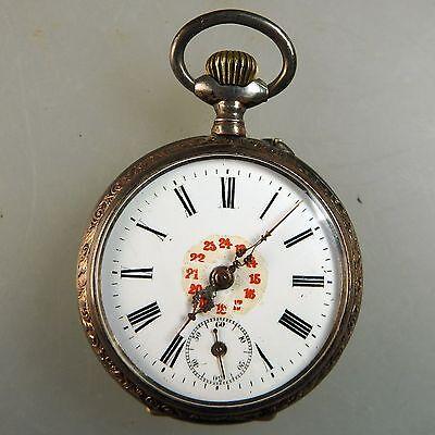 Herrentaschenuhr hochwertiges 10 Steine Uhrwerk um 1900 (39490)