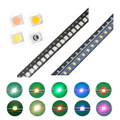 200pcs 10kinds 12103528 Smd Smt Led Diodes White Red Blue Mix Kit Lamp Lights