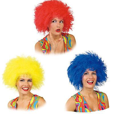 Perücke Struwel Struppi Clown Kobold für Erwachsene rot blau gelb