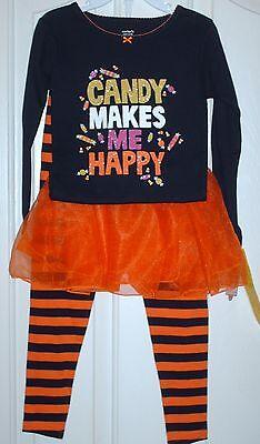 Carter Halloween Costumes (NWT Carter's Halloween candy 3 pc sleepwear outfit costume girls sz. 4, 5, &)