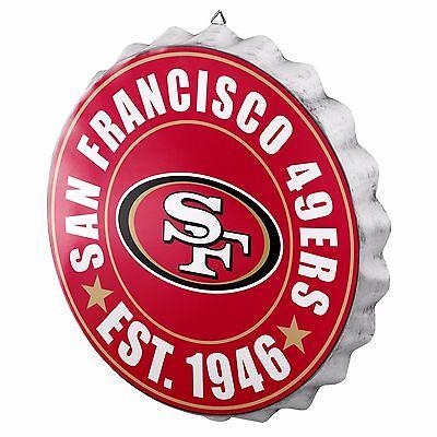 San Francisco 49ers Bottle Cap Sign - Est 1946 - Room Bar Decor NEW 13.5