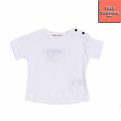 MESSAGE IN THE BOTTLE T-Shirt Top Size 3M Short Sleeve Made in Portugal