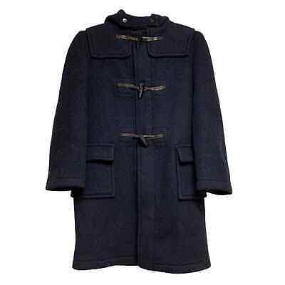 BROOKS BROTHERS Boys' Hooded Wool Toggle Coat Navy Size 14 EUC