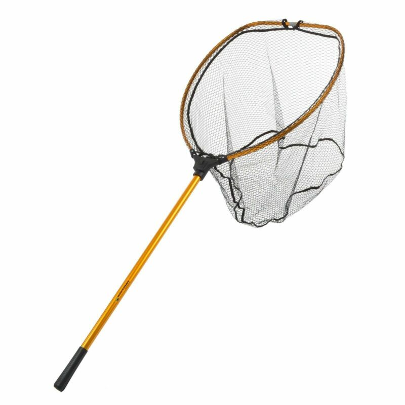 64 In Retractable Landing Big Mouth Safe Fishing 23 x 30 Net Big Tangle Free