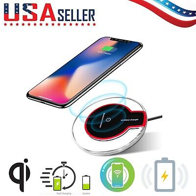 QI Wireless Charger Pad Charging iPhone 11/Pro/Max/XS/8/Galaxy Note 9/10/S10