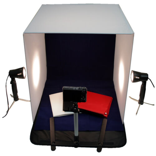 "20"" Photography Photo Studio Cube Tent Light Box + 50W Lighting Stand Kit 50cm"