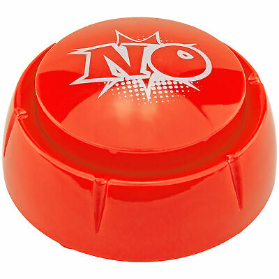 NO Sound Button 10 No Sayings Office Desk Gag Novelty Joke White Elephant Gift Greeting Cards & Party Supply