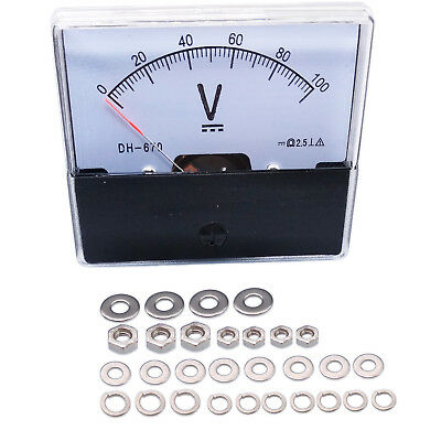 Us Stock Analog Panel Volt Voltage Meter Voltmeter Gauge Dh-670 0-100v Dc