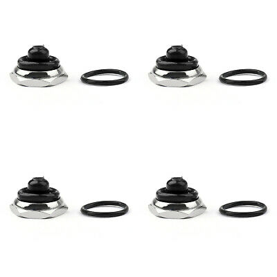 4x Car Toggle Switch Boot 12mm Rubber Waterproof Cover Cap Ip67 T700-6 Blk B3
