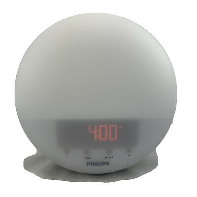 Philips Hf3510 Wake up Light Sunrise Simulation White Radio Alarm
