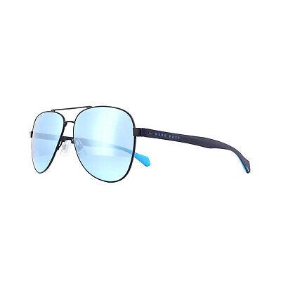 Hugo Boss Gafas de Sol Boss 1077/S Fll 3J Mate Azul Espejo