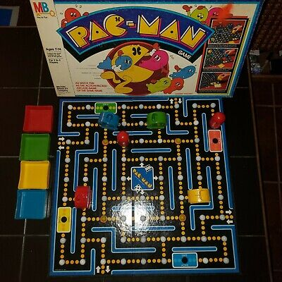 VGC  100% COMPLETE Vtg Milton Bradley PAC-MAN BOARD GAME Rare 1980 Red Ghosts