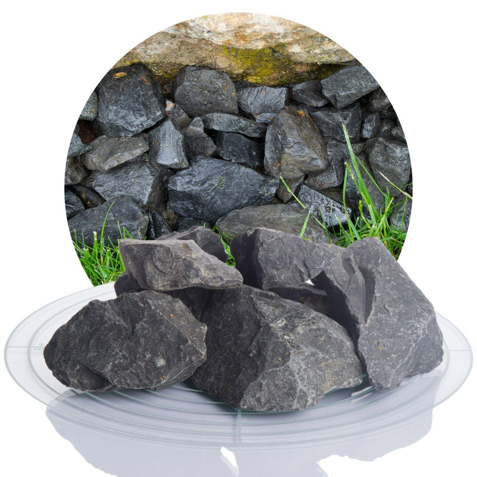 (0,24€/kg) 1 Tonne Basalt Zierkies Gartenkies anthrazit Ziersplitt 1000kg BigBag