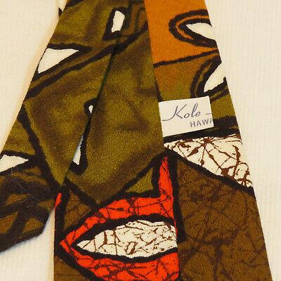 1960s – 70s Men's Ties | Skinny Ties, Slim Ties Vintage 1960s Graphic Kole Kole Hawaii Neck Tie Necktie - Geometric FUNKY! $17.99 AT vintagedancer.com