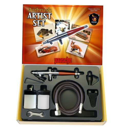 Paasche SI Artist Set, Single Action Siphon Feed Airbrush Kit (Factory Sealed)