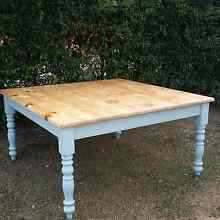 Shabby chic dining table indoor / outdoor furniture rustic home Griffin Pine Rivers Area Preview
