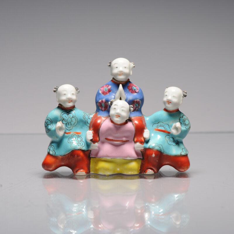 Antique Chinese Statue Porcelain Children Qianlong/Jiaqing Period Statue 18th c