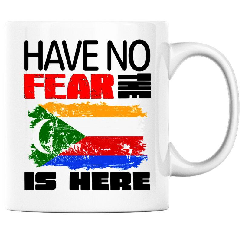 Have No Fear the Comorian is Here Funny Coffee Mug Comoros Heritage Pride