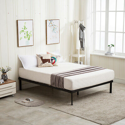 Full/King Size Metal Platform Bed Frame Wood Slat Mattress Foundation Bedroom
