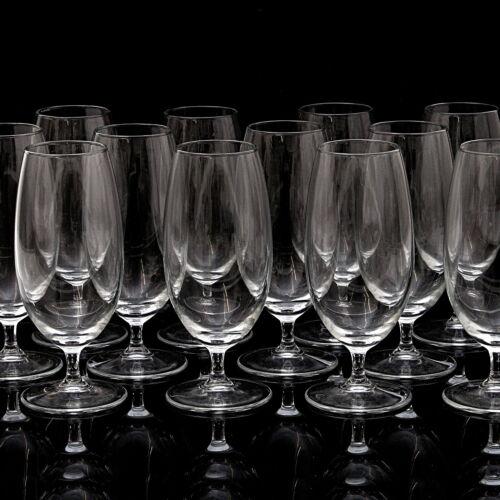 12x Bierglas 0,4L Pilsglas Biergläser Biertulpen Biertulpe mit Stiel und Fuß
