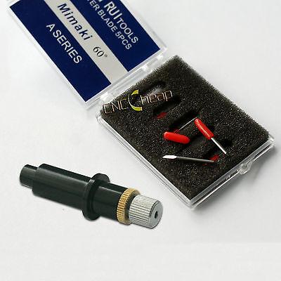 1pc Blade Holder 5pcs 60 Blades Fit For Mimaki Vinyl Cutter Cutting Plotter