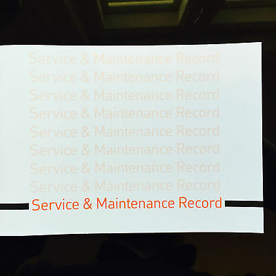 Fiat PUNTO & GRANDE PUNTO Service Book - History Maintenance Record - New Blank