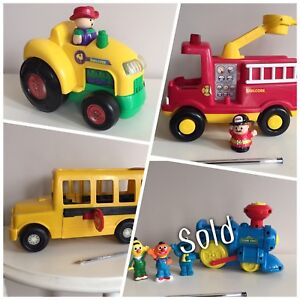 Assorted play vehicles, prices as marked | Smoke Free Pet Free
