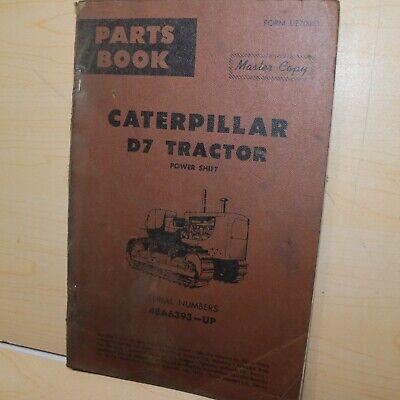 Cat Caterpillar D7 Crawler Tractor Part Manual Book Dozer Catalog List Spare 48a