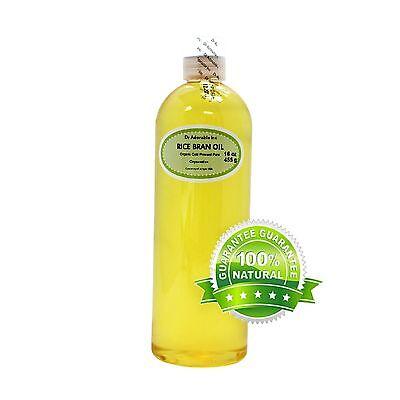 16 Oz Premium Rice Bran Oil Pure Organic Cold Pressed Best Fresh Multi