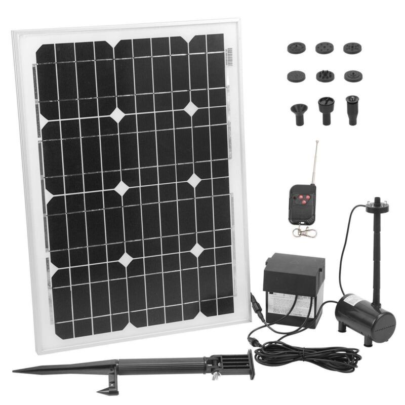 Solar pond pump gardening ebay for Solar fish pond filter