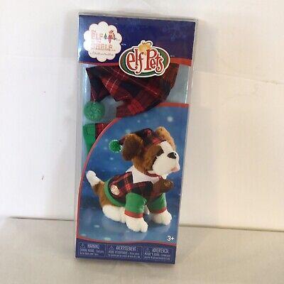 Elf On The Shelf Pets St Barnard Pajama PJ Costume Green Red Plaid Cuteness (S)