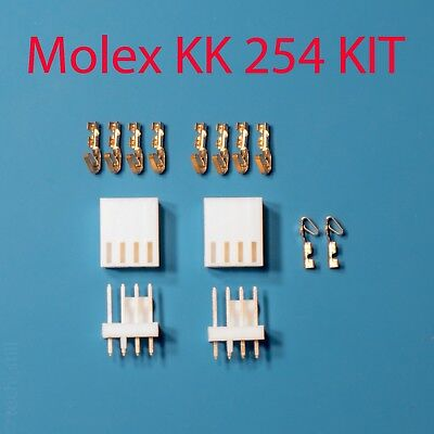 Genuine Molex Kk 254 Kit 4-pos Wire To Board 2.54mm 22-30 Awg