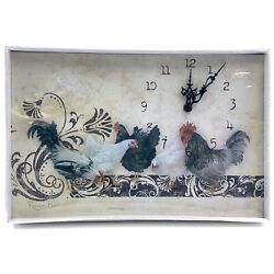 Rooster, Chicken, Hen French Country Clock by Rebecca Baer, NEW! Very CUTE!