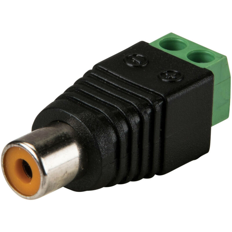 RCA Female to Screw Terminal Connector