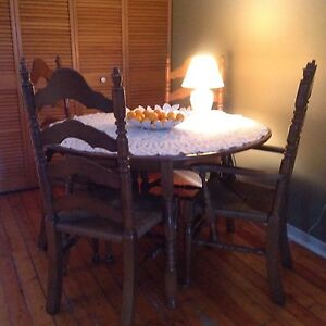 Rustic Dining Set for 4