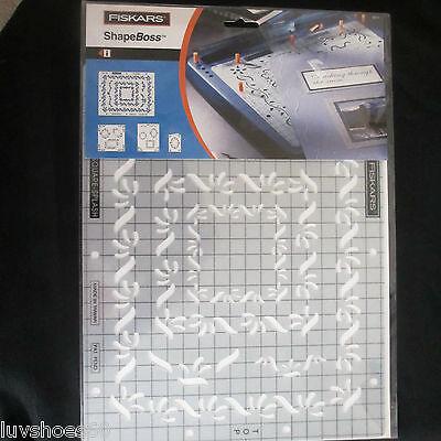 Shapeboss Embossing Stencil (FISKARS Shape Boss Scrap Boss 9x12 Embossing Stencil Square Splash Cardmaking)